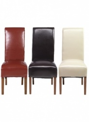 Lucy bonded leather dining chair